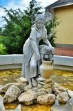 A stone sculpture of a woman Royalty Free Stock Photo