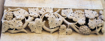 Stone sculptured vine. Royalty Free Stock Image