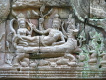 Stone Sculptures. At Castle Rock in Cambodia Royalty Free Stock Photos