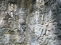 Stone Sculptures. At Castle Rock in Cambodia Stock Image