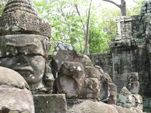 Stone Sculptures. At Castle Rock in Cambodia Stock Photography