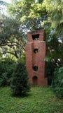 Stone sculptures, Ann Norton Sculpture Gardens, West Palm Beach, Florida. USA on sunny day stock images
