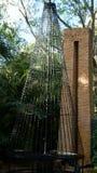 Stone sculptures, Ann Norton Sculpture Gardens, West Palm Beach, Florida. USA on sunny day stock image