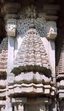 Stone sculptures on the astonishingly. Beautiful Keshava Temple in Somnathpur, Karnataka, India Royalty Free Stock Photo