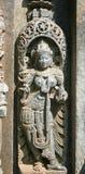 Stone sculptures on the astonishingly. Beautiful Keshava Temple in Somnathpur, Karnataka, India Stock Image