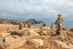 Stone sculptures in Madeira Royalty Free Stock Images