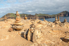 Stone sculptures in Madeira Stock Photography