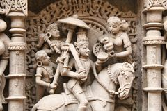Stone sculptures of medieval India Stock Photo
