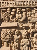Stone Sculptures in Sanchi, Madhya Pradesh Royalty Free Stock Photography