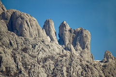 Stone sculptures of Velebit mountain Stock Images