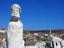 Stone Sculpure in Delos,Mykonos Royalty Free Stock Photos