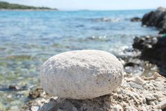 Stone and sea Royalty Free Stock Photos
