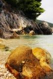 Stone sea beach croatia Stock Photo