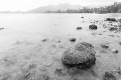 Stone sea blurred Royalty Free Stock Photo