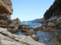 Stone sea coast Stock Image