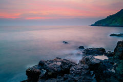 Stone in the sea Royalty Free Stock Photos