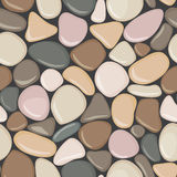 Stone seamless background texture. Pebbles seamless pattern. Stock Photography