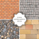 Stone seamless patterns Royalty Free Stock Image