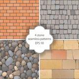 Stone seamless patterns Royalty Free Stock Image