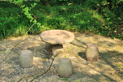 The stone seat Stock Photography