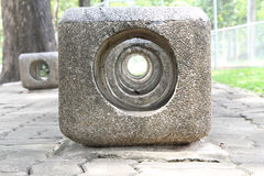 Stone seat Royalty Free Stock Images