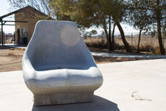 Stone seat Royalty Free Stock Photography
