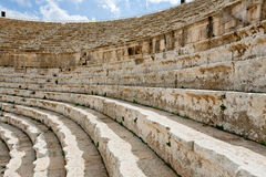 Stone seats in antique Jerash Stock Photography