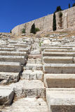 Stone seats in Theater of Dionysus Royalty Free Stock Image