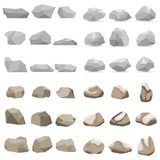 Stone, a set of stones, many stones. Stock Images