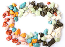 Stone shape candy Royalty Free Stock Image