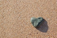 Stone in the shape of a heart Stock Photos