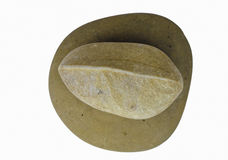 Stone in  the shape of a leave Royalty Free Stock Photo