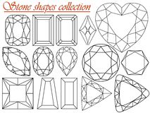 Stone shapes collection Stock Images