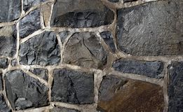 Stone shapes in urban exterior scene Royalty Free Stock Photos