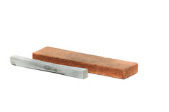 Stone for sharpening a knife Royalty Free Stock Images