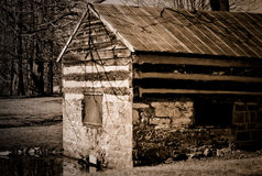 Stone Shed. A stone shed on the bank of a pond in Blacksburg, VA Stock Photography