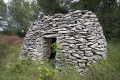 Stone shelter on dalmatian islands in Croatia Royalty Free Stock Photos