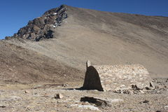 Stone shelter near Mulhacen in Sierra Nevada National Park Stock Photography