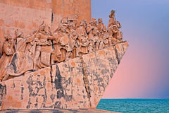Stone ship shaped Monument to the Discoveries in Lisbon Portugal Royalty Free Stock Photo