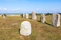 Stone ships field Royalty Free Stock Photos