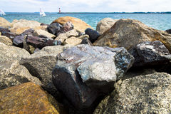 Stone shore. Stock Images