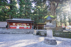 Stone shrine in Japanese temple Royalty Free Stock Photography
