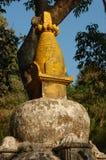 A Stone Shrine at Swayambhunath Stupa in Kathmandu, Nepal. This is a stone shrine to Buddha at Swayambhunath Stupa in Kathmandu, Nepal Stock Images