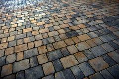 Stone sidewalk angle shot Stock Images