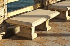 Stone Sidewalk Benches Royalty Free Stock Photo