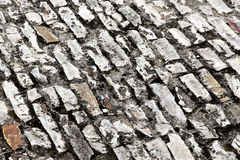 Stone sidewalk in perspective, background Royalty Free Stock Photography