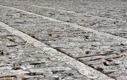 Stone sidewalk in perspective, background Royalty Free Stock Photo