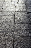 Stone sidewalk in perspective, background Royalty Free Stock Images