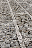 Stone sidewalk in perspective, background Stock Photo