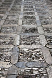 Stone sidewalk, small depth of field Royalty Free Stock Photo